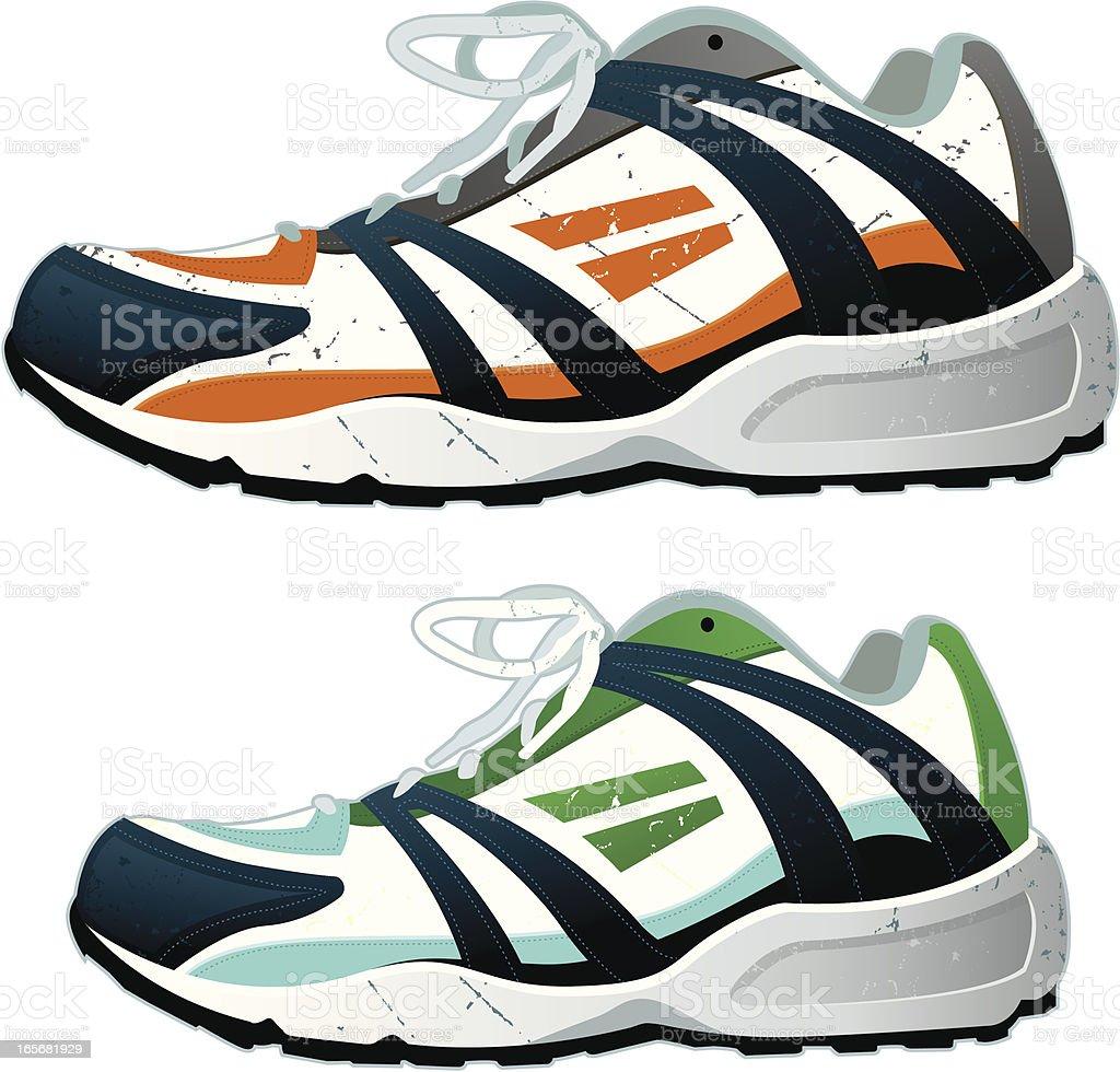 Running Shoes vector art illustration