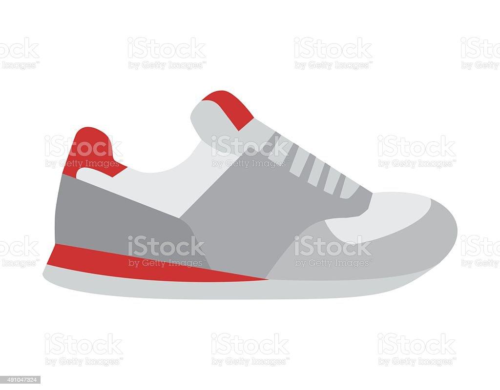 Running shoes vector vector art illustration