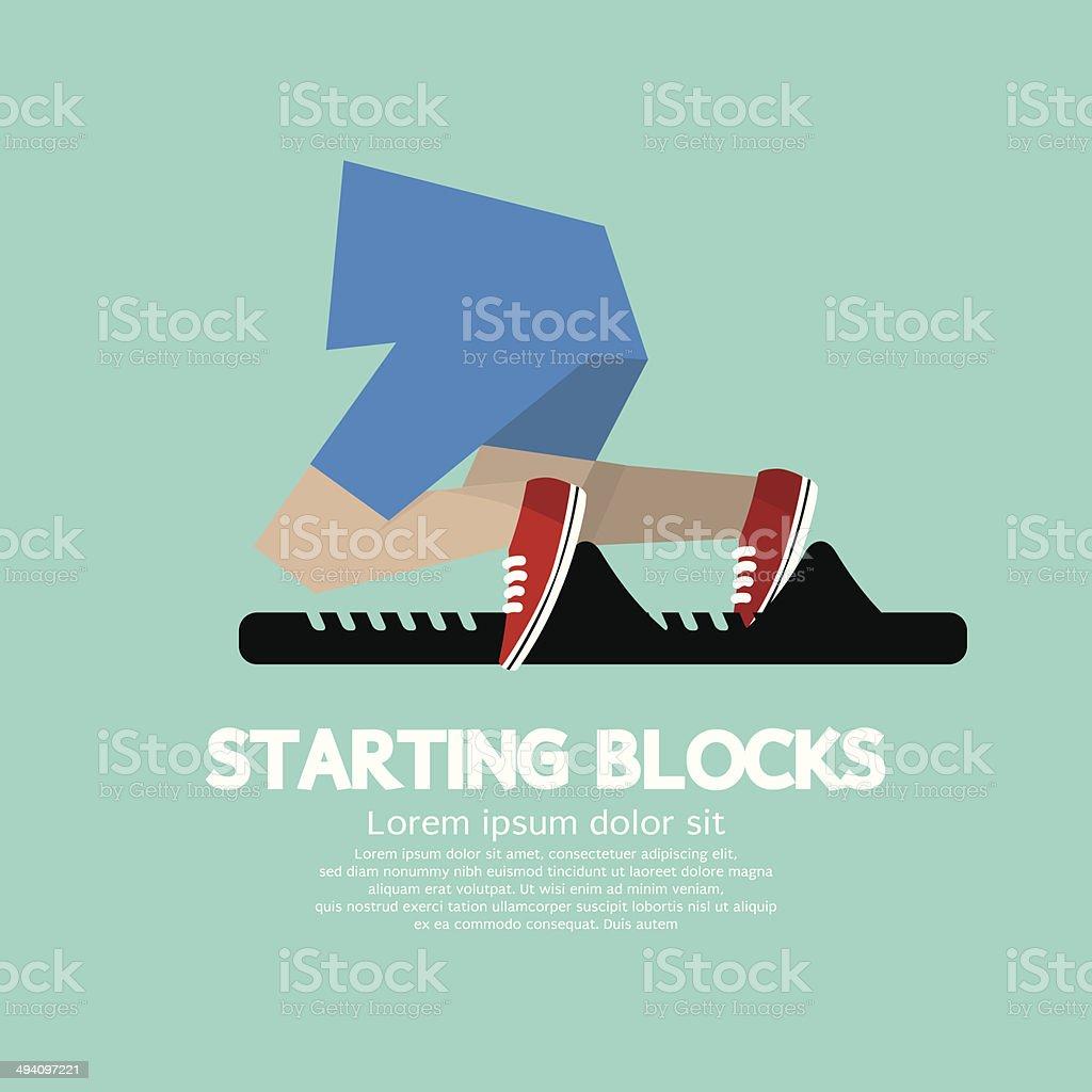 Running Starting Blocks royalty-free stock vector art