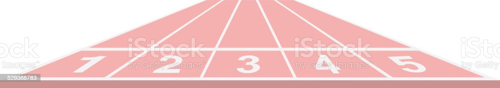 Running track in pink design vector art illustration