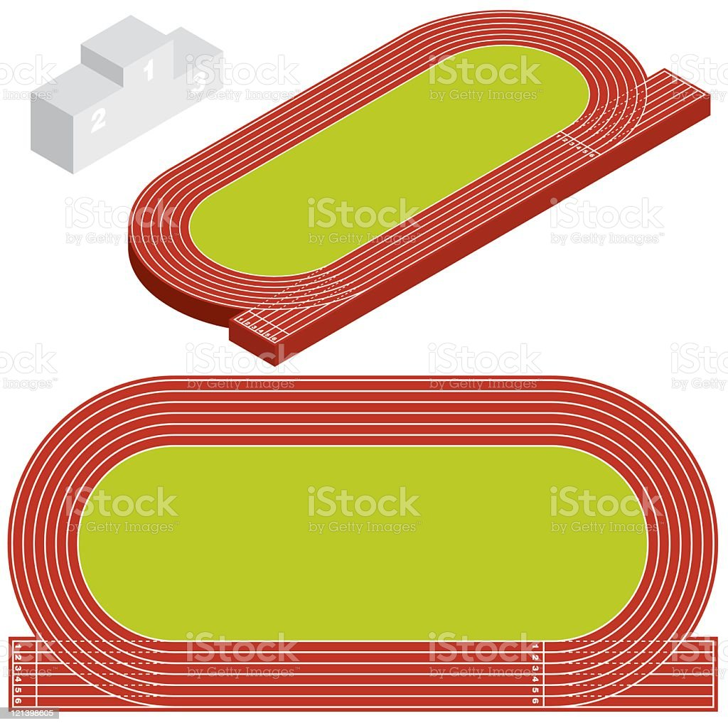 Running Track vector art illustration