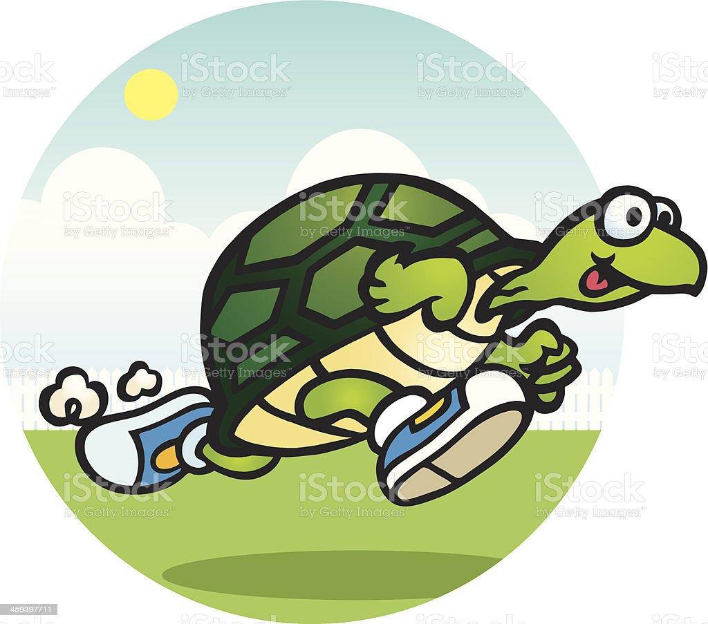 Running Turtle royalty-free stock vector art