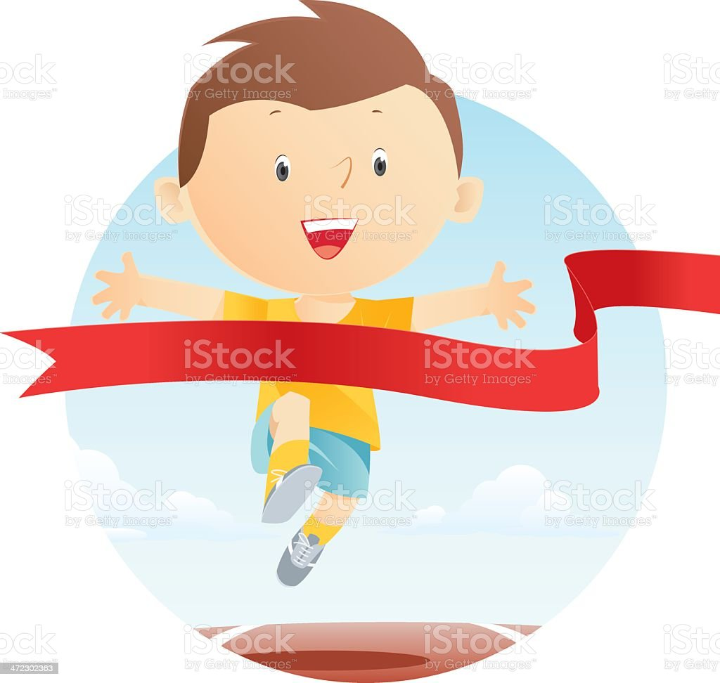 Running royalty-free stock vector art