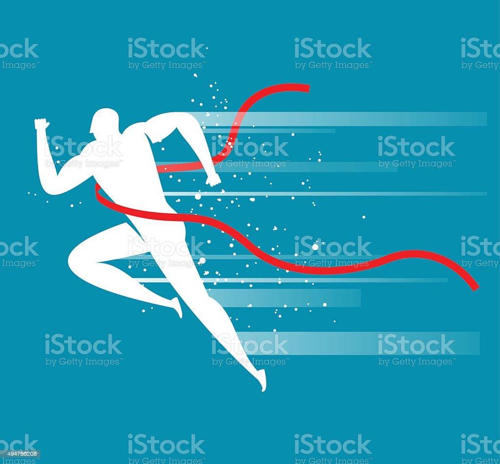Running vector art illustration