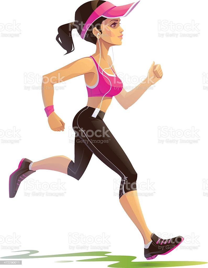 Running Woman royalty-free stock vector art