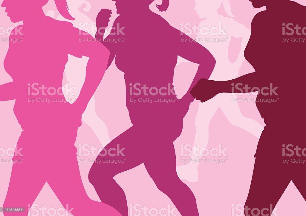Running Women Abstract royalty-free stock vector art