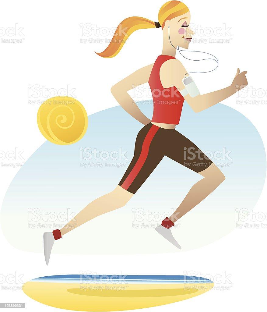 Running Women royalty-free stock vector art