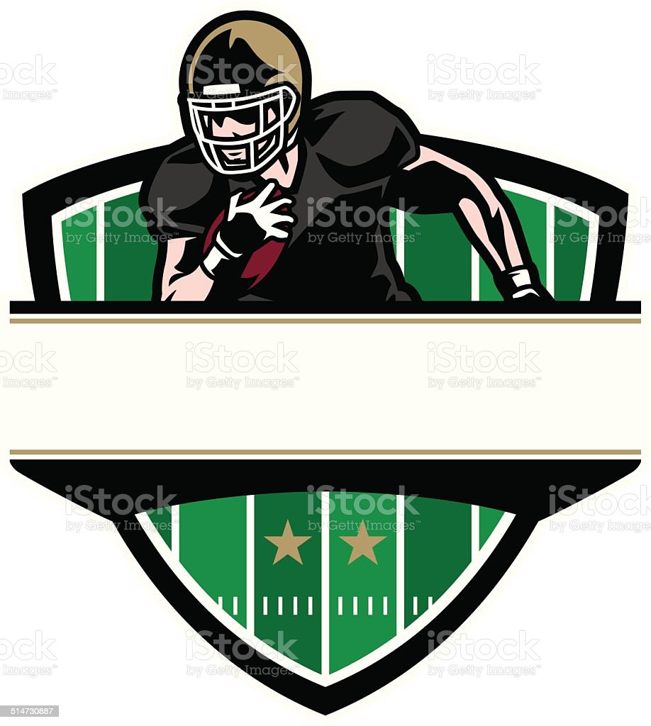 Runningback Crest vector art illustration