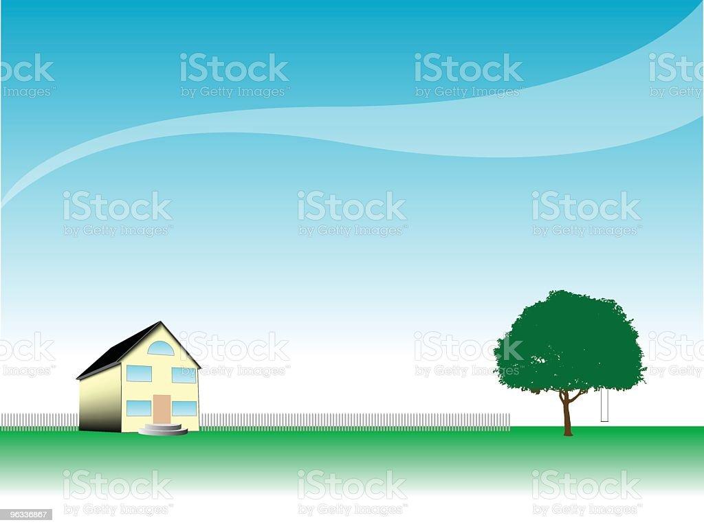 Rural Home ~ Vector royalty-free stock vector art