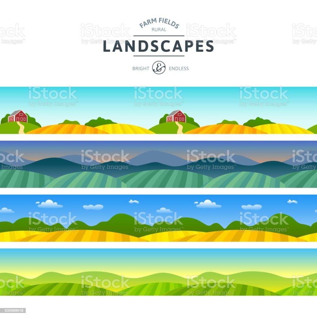 Rural Horizontal Views vector art illustration
