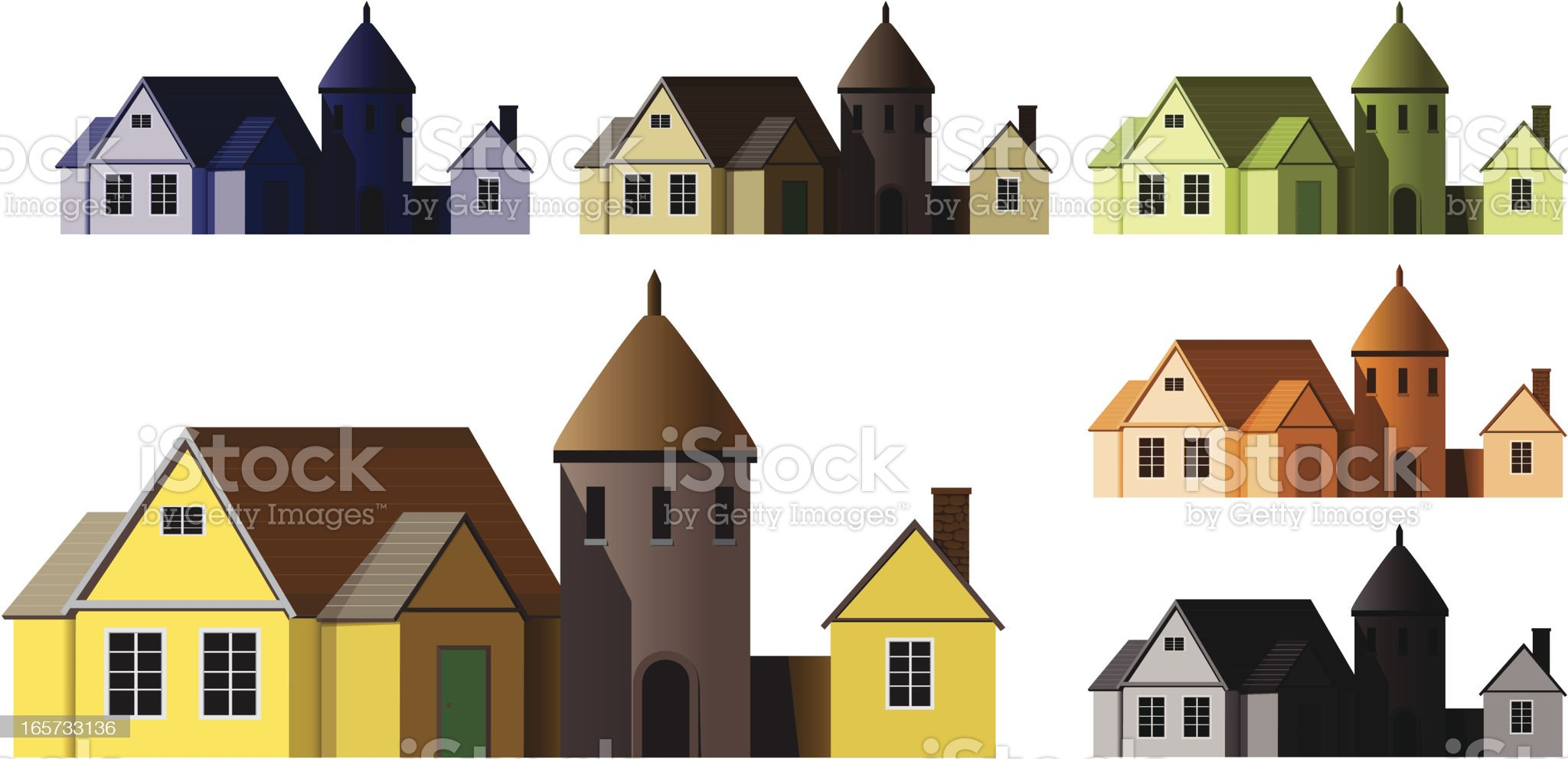 Rural House royalty-free stock vector art