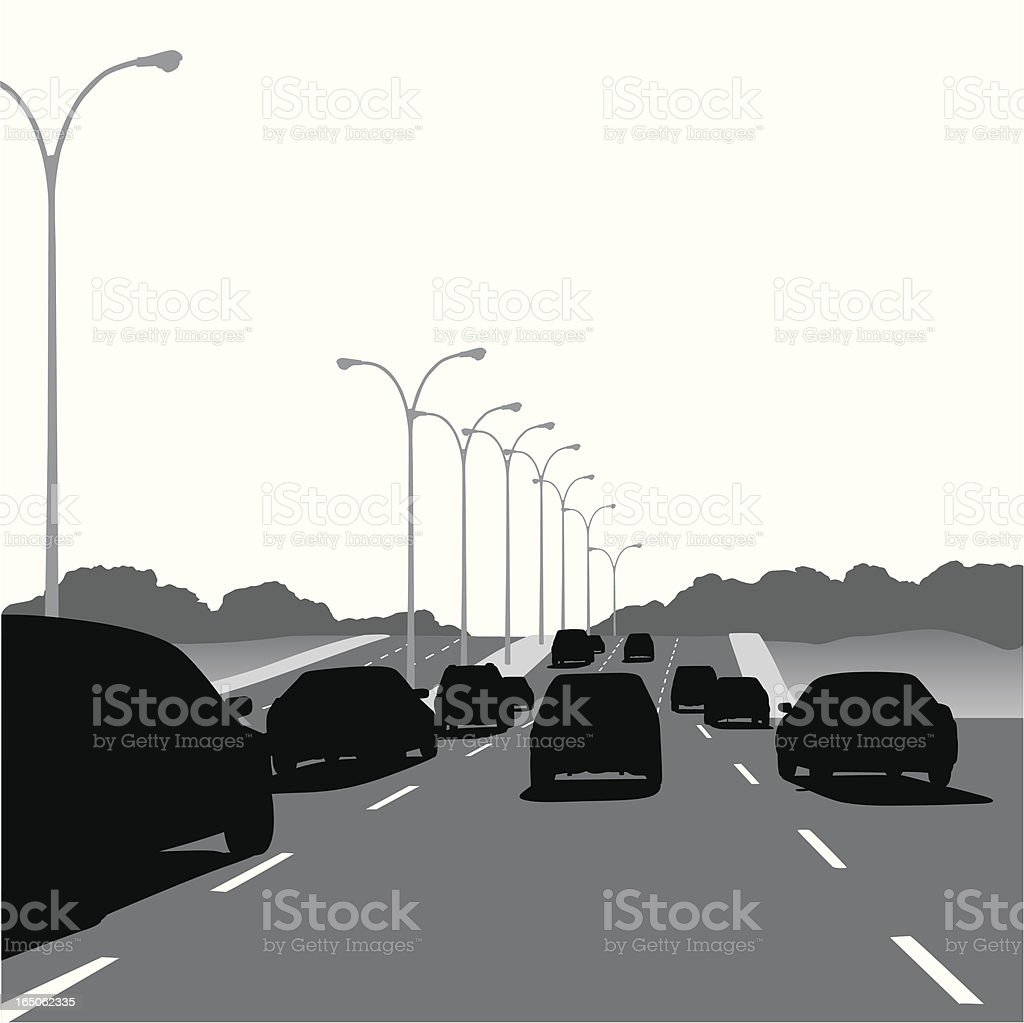 Rush Hour Vector Silhouette royalty-free stock vector art