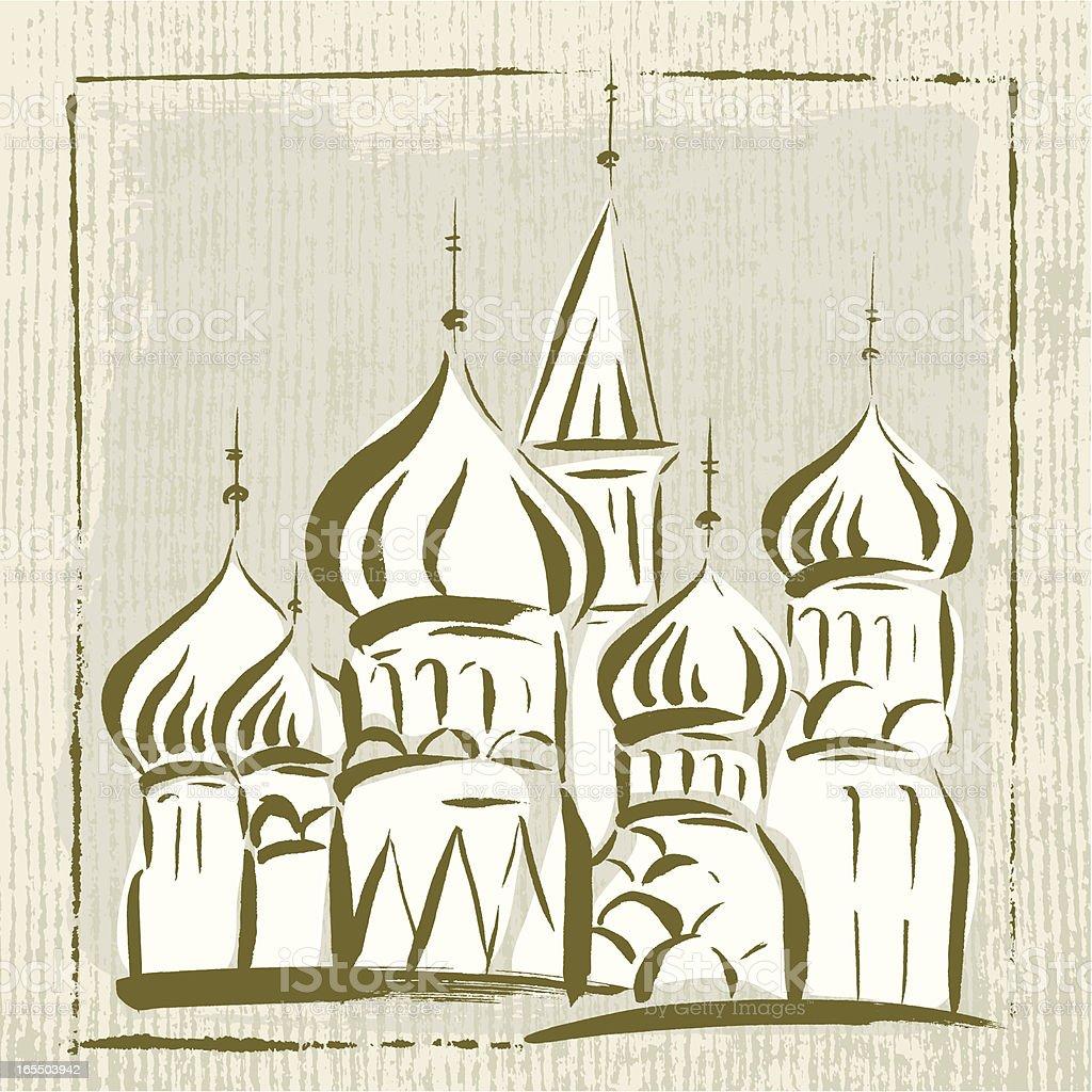 Russia Landmark royalty-free stock vector art