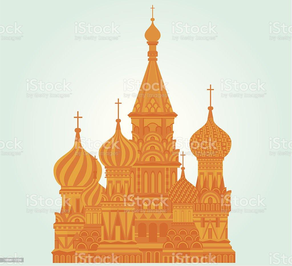 Russia Landmark vector art illustration