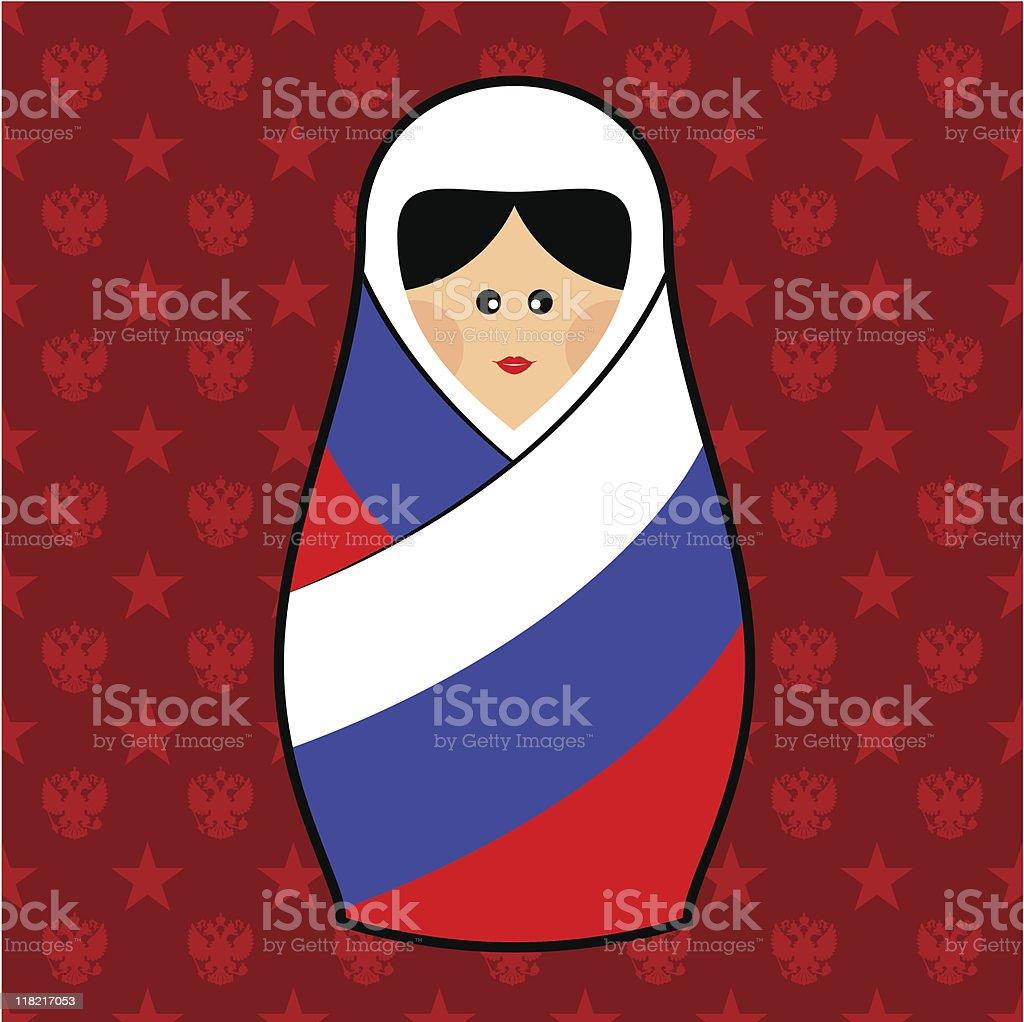 Russia - Matryoshka doll royalty-free stock vector art