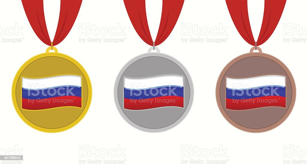 Russia Medals royalty-free stock vector art