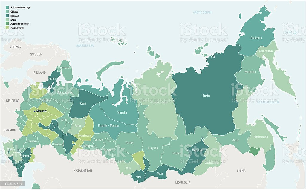 Russia vector art illustration