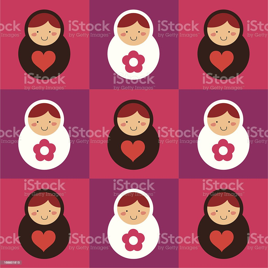 Russian doll collection royalty-free stock vector art