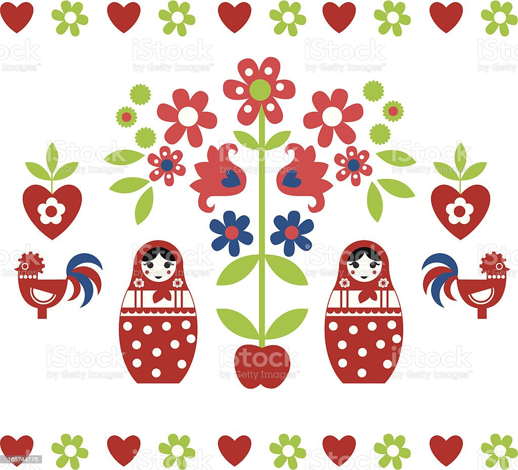 russian doll pattern royalty-free stock vector art