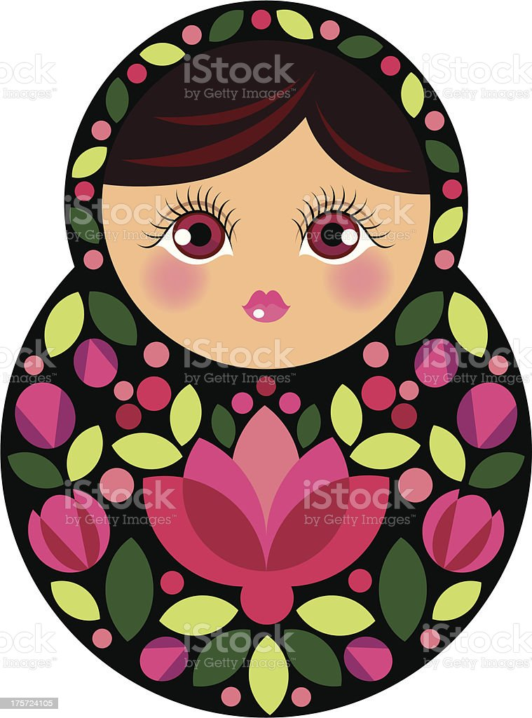 Russian doll royalty-free stock vector art