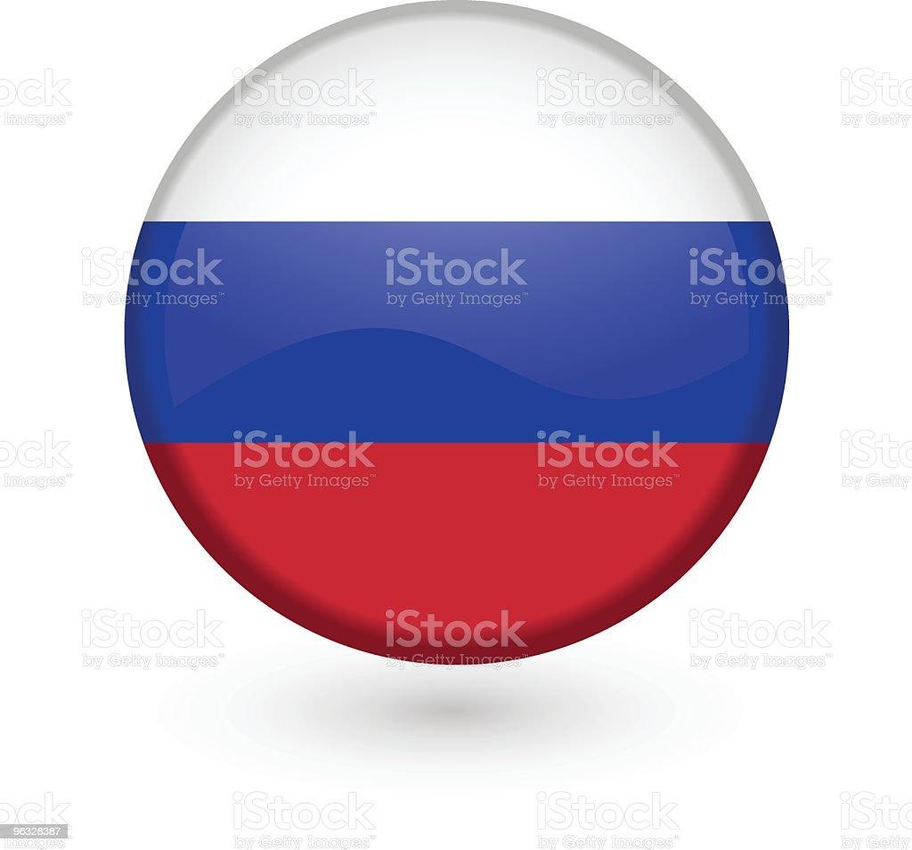 Russian flag vector button vector art illustration