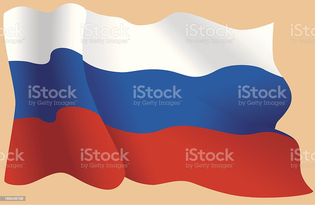 Russian flag royalty-free stock vector art
