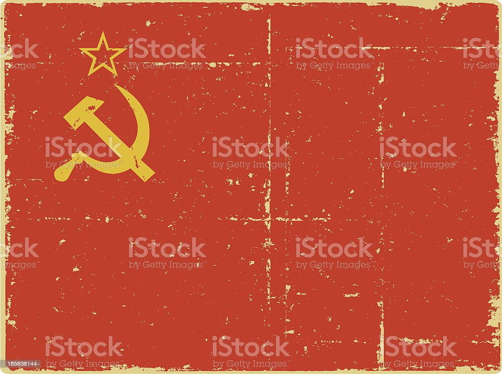 WWII Russian Flag royalty-free stock vector art