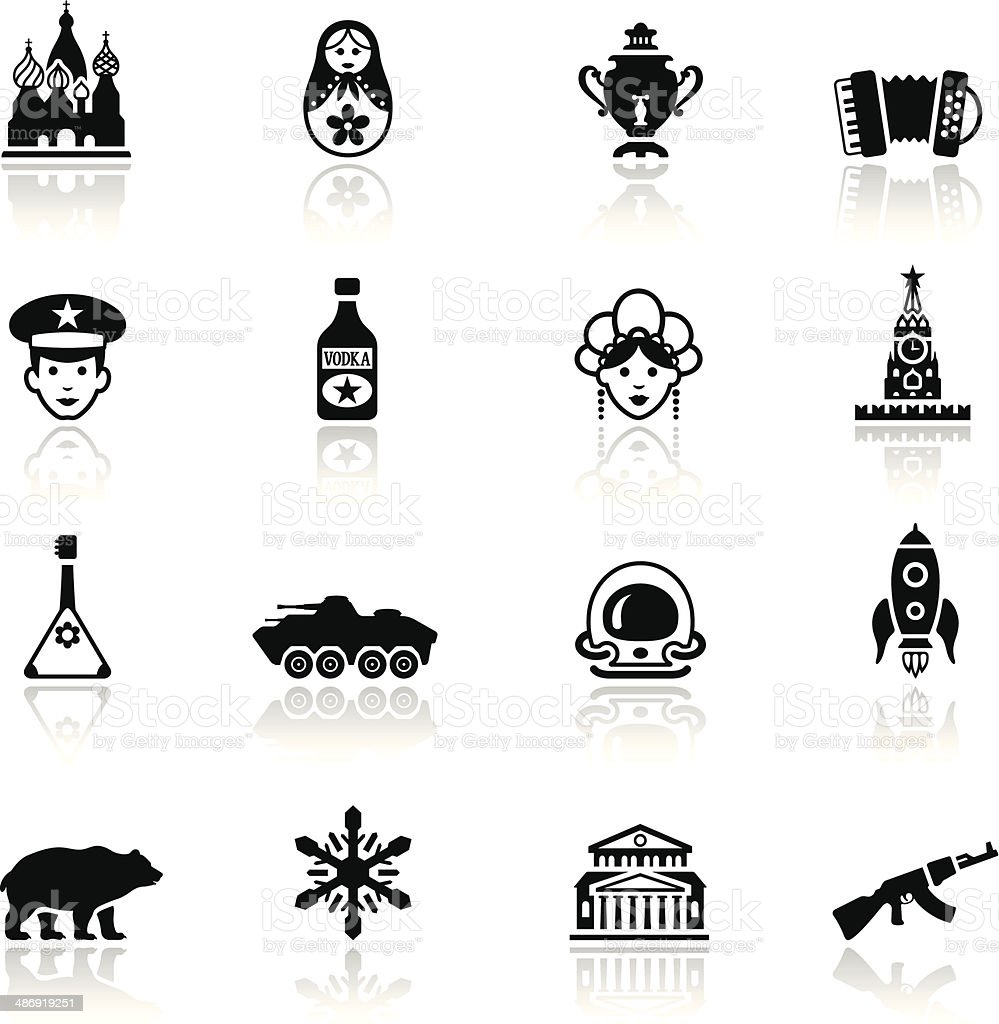 Russian Icon Set vector art illustration