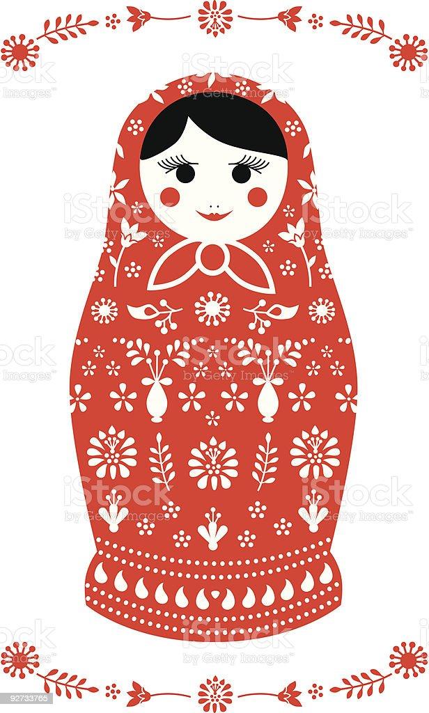 Russian Matryoshka  Doll vector art illustration