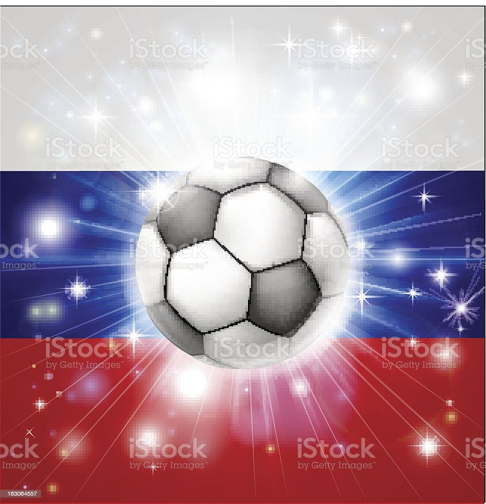 Russian soccer flag royalty-free stock vector art