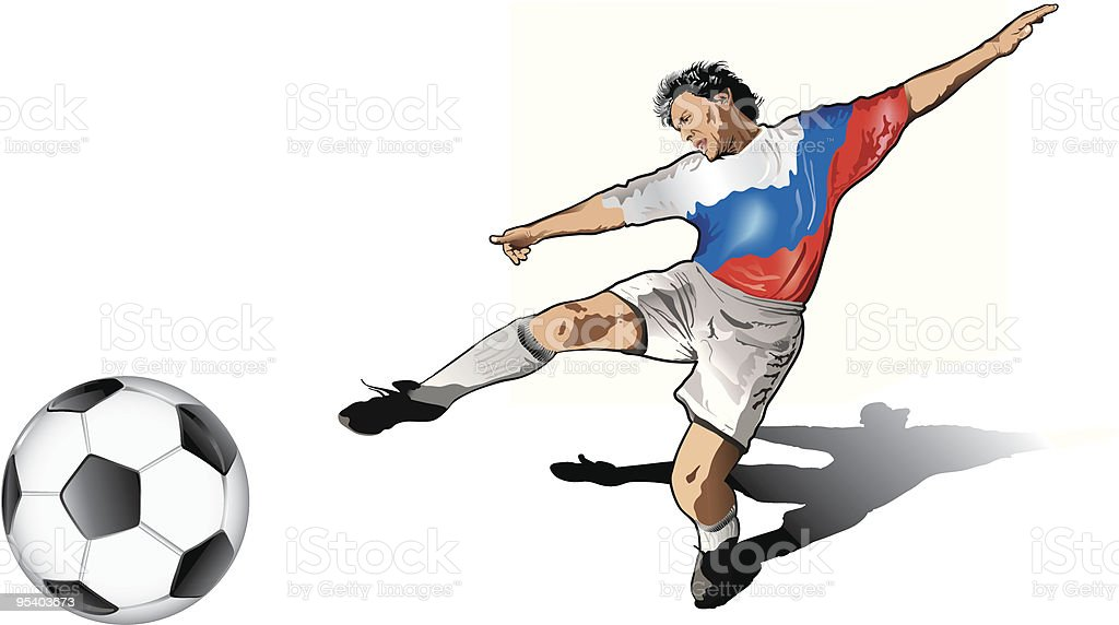 Russian soccer player royalty-free stock vector art