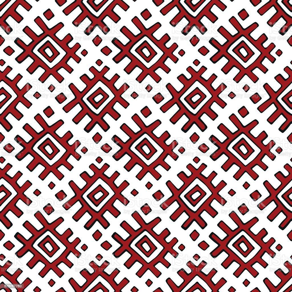 Russian textile seamless pattern vector art illustration