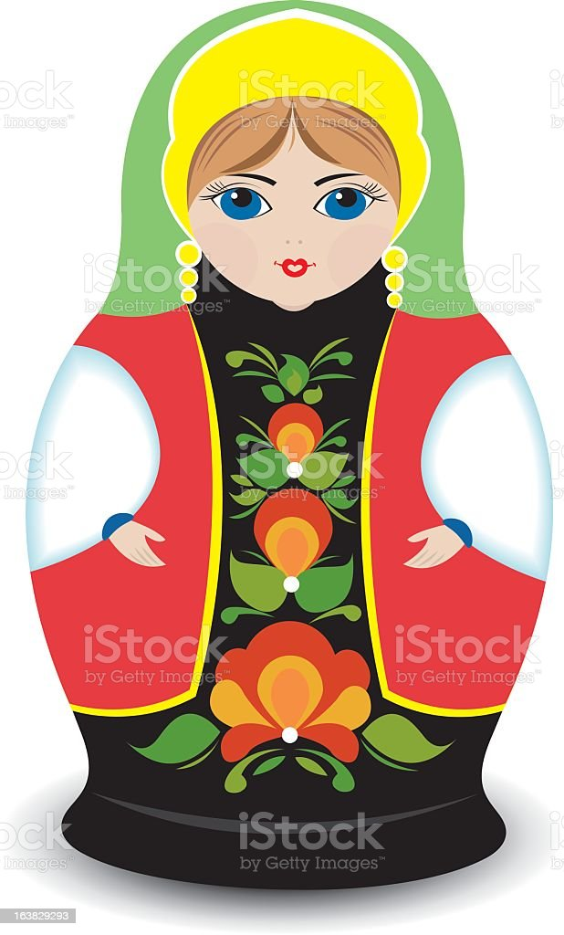 Russian traditional doll royalty-free stock vector art