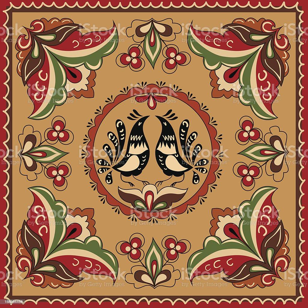 Russian traditional ornament vector art illustration