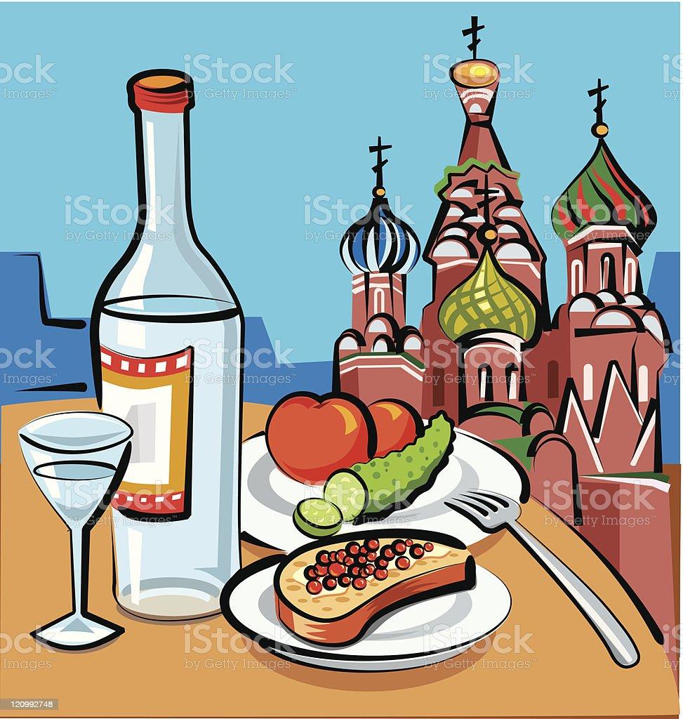 russian vodka royalty-free stock vector art