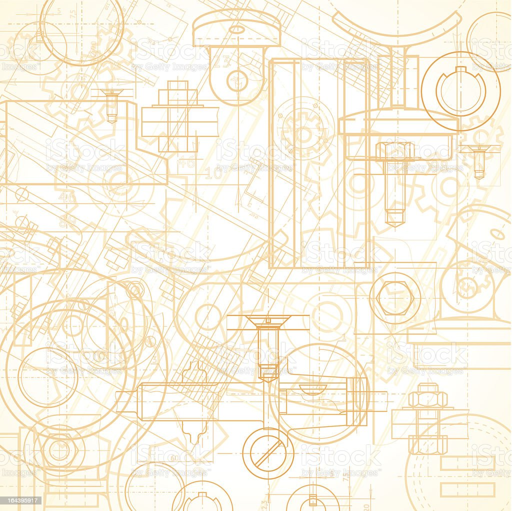 Rust colored industrial background sketch royalty-free stock vector art