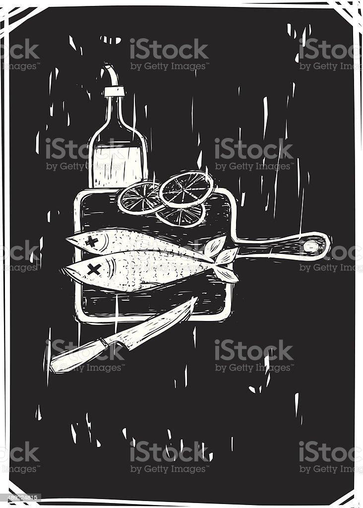 Rustic Cooking vector art illustration