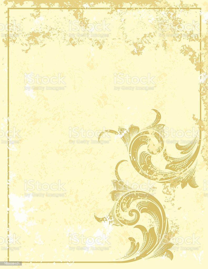 Rustic Corner Scroll royalty-free stock vector art