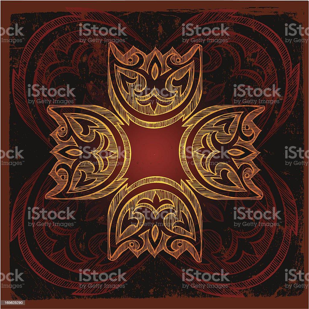 rustic flower royalty-free stock vector art