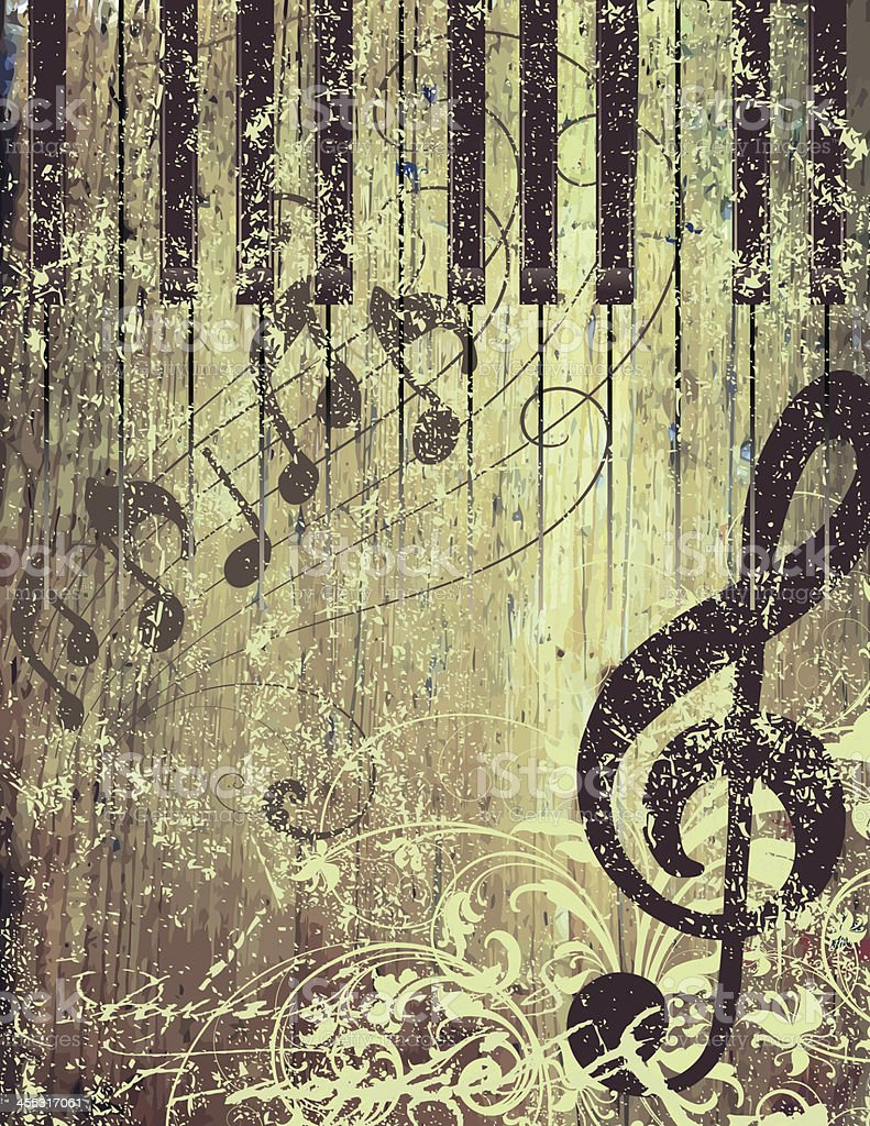 Rustic Musical Page royalty-free stock vector art