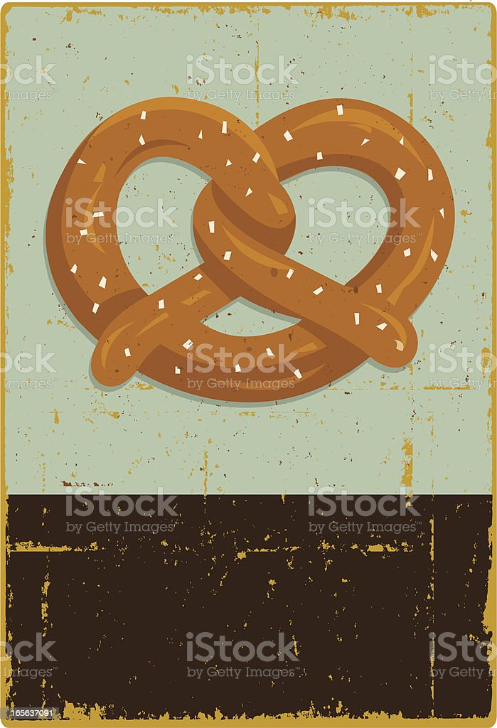 Rustic Pretzel Sign vector art illustration