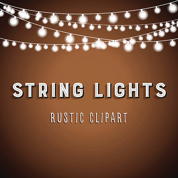 String Lights Clip Art, Vector Images & Illustrations - iStock