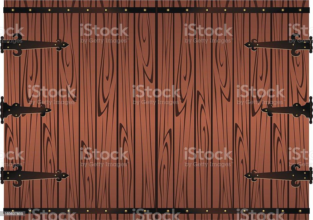 Rustic Wood Door royalty-free stock vector art