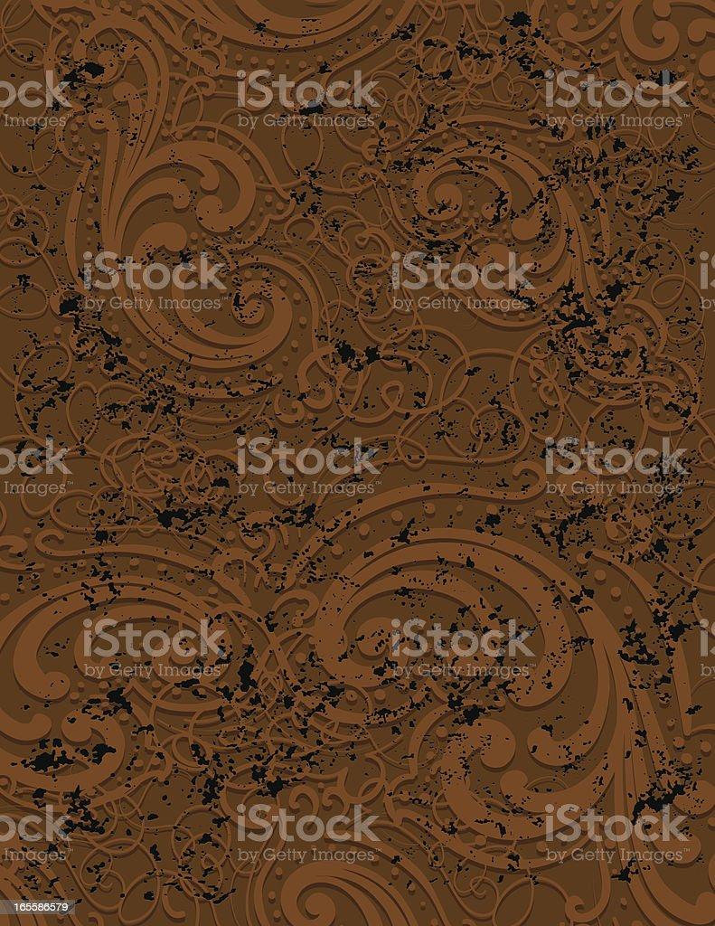Rusty Brown Scroll Page royalty-free stock vector art