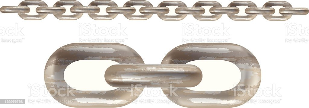 Rusty Chain royalty-free stock vector art