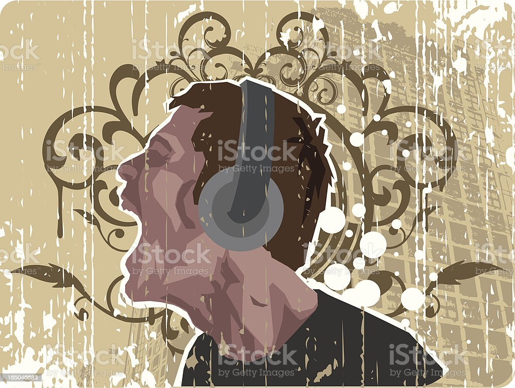 Rusty classical musical design royalty-free stock vector art