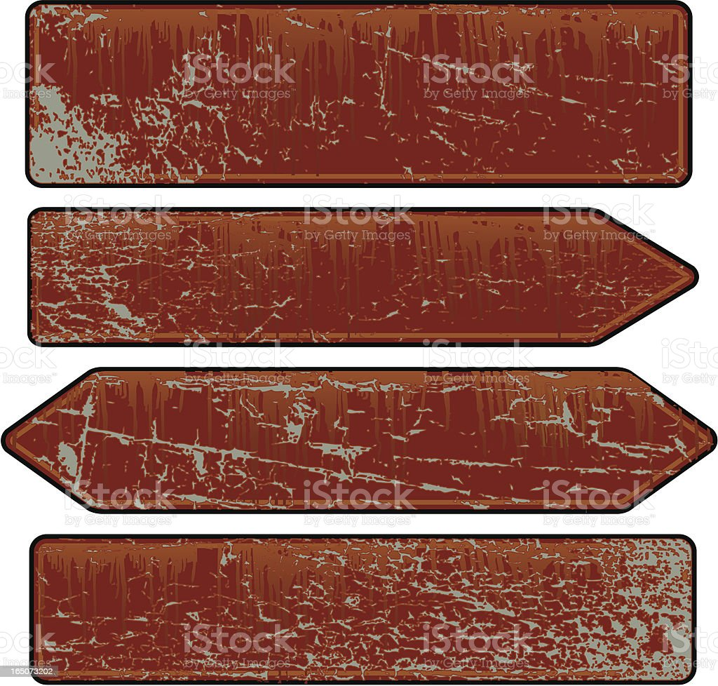 Rusty Sign Collection vector art illustration