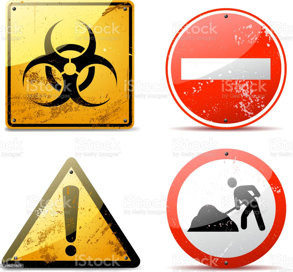 rusty warning signs royalty-free stock vector art