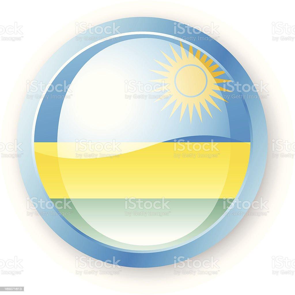 Rwanda Flag Icon royalty-free stock vector art