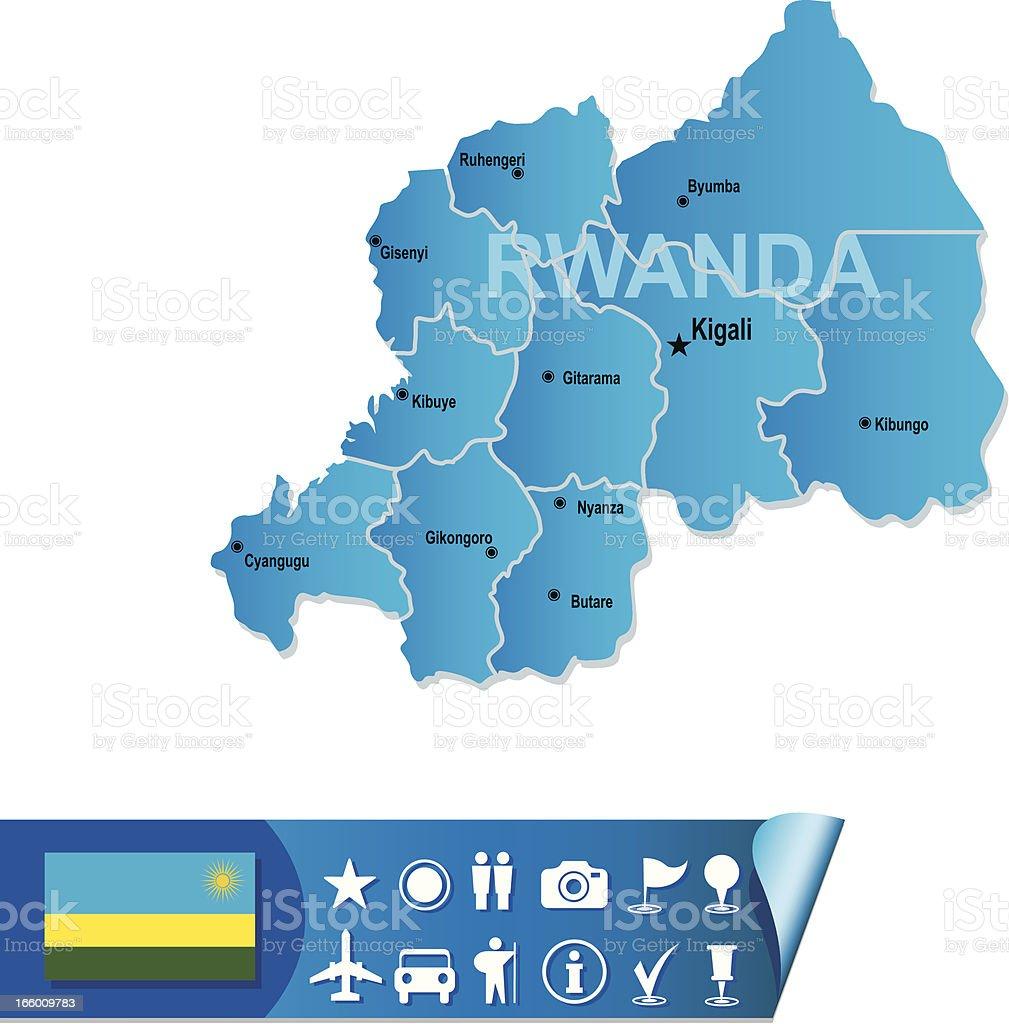 Rwanda vector map royalty-free stock vector art